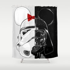 Mini Trooper vs. Vader Mouse Shower Curtain