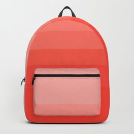 Living Coral Light to Bright Gradient Backpack