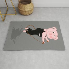 Pig Skipping Rug