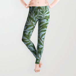 William Morris Willow Bough and Leaves Textile Floral Pattern Leggings