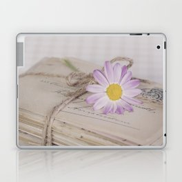 Shabby Chic Old Letters And Daisy Laptop & iPad Skin