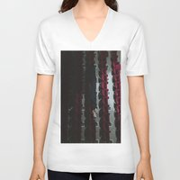 theatre V-neck T-shirts featuring Theatre girl by Jovana Rikalo