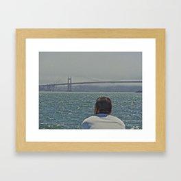 The Golden Gate Man Framed Art Print