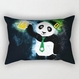 Patrick the Panda in Black Grunge Background Rectangular Pillow