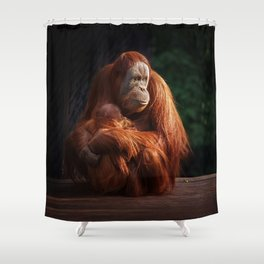 Dinner Time  (square crop) Shower Curtain