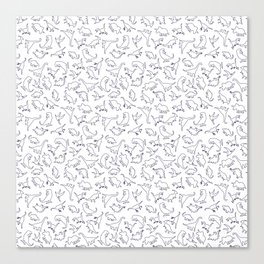 Dinosaurs Outline Pattern Canvas Print
