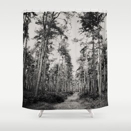 the path through the forest ... Shower Curtain