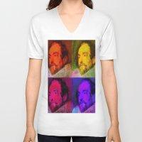 van V-neck T-shirts featuring Van Dyck  by Joe Ganech