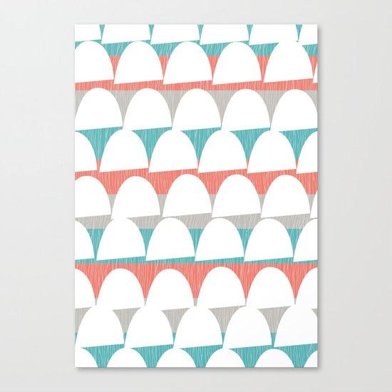 Shroom stripes Canvas Print