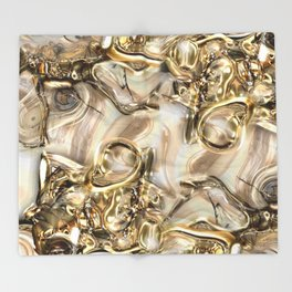 GOLD SWIRLS Throw Blanket