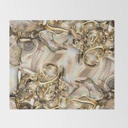 GOLD SWIRLS Throw Blanket