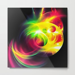 abstract fractals 1x1 reacstd Metal Print