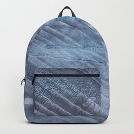 Gray Blue blurred wash drawing Backpack