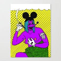 SMOKE.   (Mouseketeer).  (On Yellow). Canvas Print