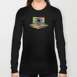 rainbow retro classic vintage camera toys Long Sleeve T-shirt