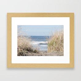 The Beach Beckons    Path To Ocean Shore Framed Art Print