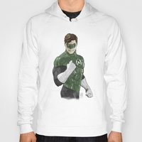 green lantern Hoodies featuring Green Lantern by Alex Heuchert