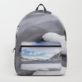 Snowfall at Ogwen Lake Snowdonia Backpack