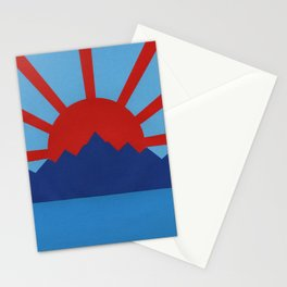 Ocean, Mountains, Rising Sun Stationery Cards