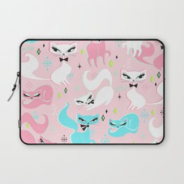 Swanky Kittens on Pink Laptop Sleeve