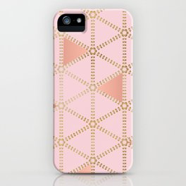 Hint of Rose Gold-Pattern Design iPhone Case