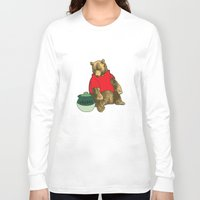 pooh Long Sleeve T-shirts featuring Pooh! by Pieterjan Arends