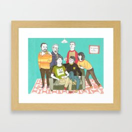 The Decembersit& Panda Bear Framed Art Print