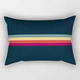 Retro Stripes Thunderbird Rectangular Pillow