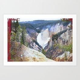 Yellowstone Falls - Artists Point Art Print