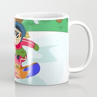 snowboarding Mugs featuring Winter Sports: Snowboarding by Alapapaju
