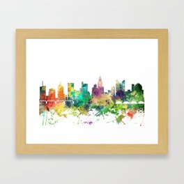Columbus, Ohio skyline SP Framed Art Print