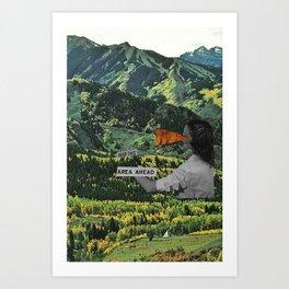 Keep This Area Ahead Art Print