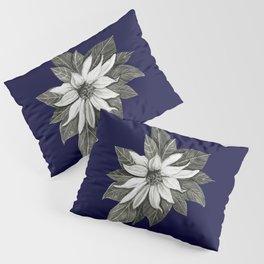 Florida Flower Navy Blue Background Pillow Sham