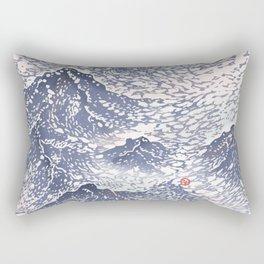 Distant View - 遠望 series -Linocut Rectangular Pillow