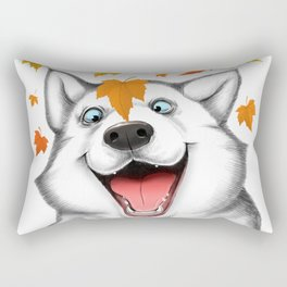 Autumn husky Rectangular Pillow
