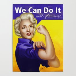 We can do it with glamour! Poster