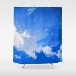 blue cloudy sky std Shower Curtain