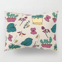 Plants addicted pattern, garden flowers autumn Pillow Sham