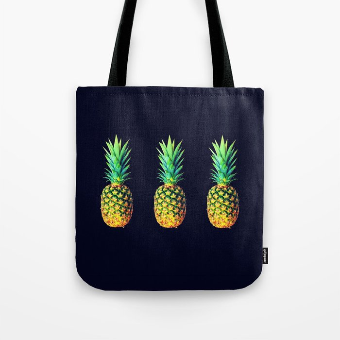 Night Knights Pineapples Tote Bag