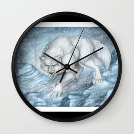 Snow Prowl Wall Clock