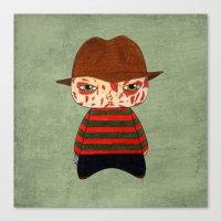 freddy krueger Canvas Prints featuring A Boy - Freddy Krueger by Christophe Chiozzi