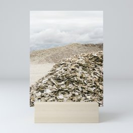 Oyster Shell Mounds, Seafood Fishing Industry, Washington, Northwest Mini Art Print