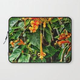 Spectacular orange trumpet flower Laptop Sleeve