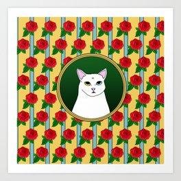 Fat D. Loves Roses Art Print