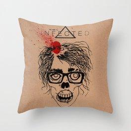 Mild Mannered Zombie Throw Pillow