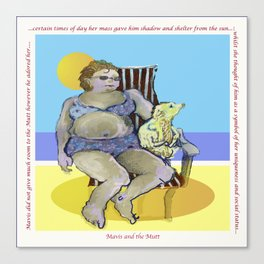 'Mavis and the Mutt' (Saw Sea Art Range) Canvas Print