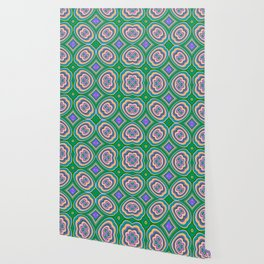 Pattern ALEX turquoise Wallpaper