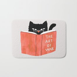Cat reading book Bath Mat