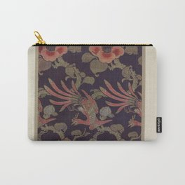 Verneuil - Japanese paper and fabric designs (1913) - 37: Birds and camellias Carry-All Pouch