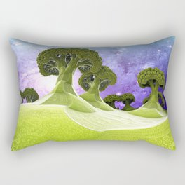 Broccoli Planet / / #fractal #fractals #3d Rectangular Pillow